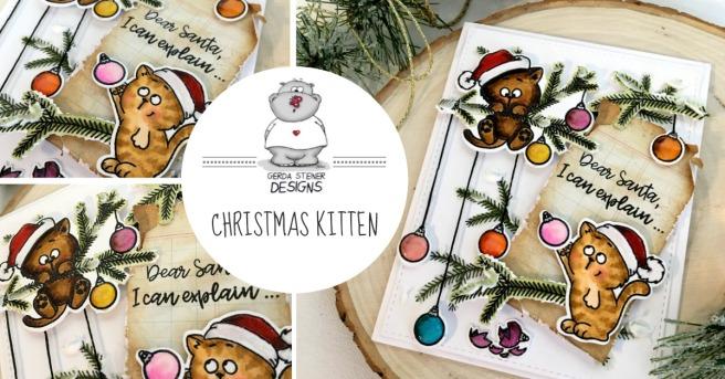 GSD CHRISTMAS KITTEN