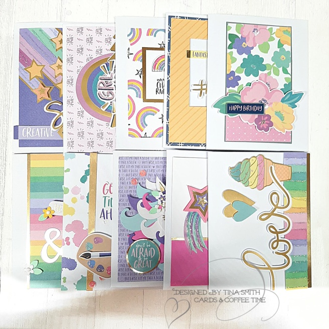 Spellbinders Card Kit of the Month FEB20_10 Cards
