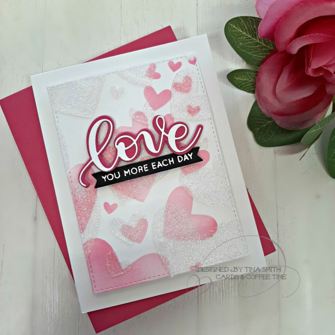 SSS Hey Bestie Release - Bursting Heart Stencil 1