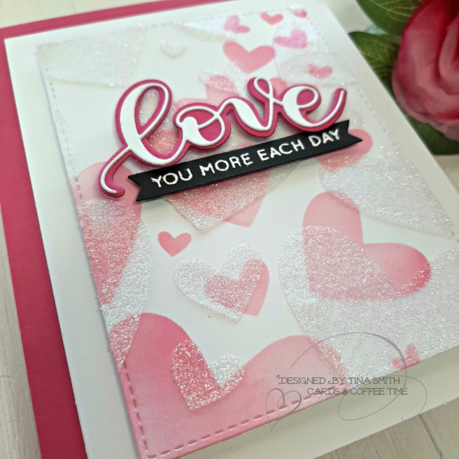 SSS Hey Bestie Release - Bursting Heart Stencil 2