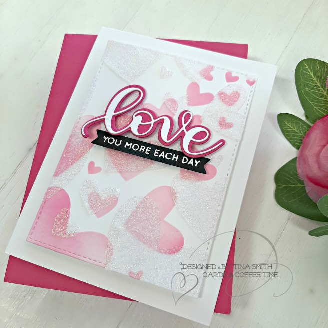 SSS Hey Bestie Release - Bursting Heart Stencil 3