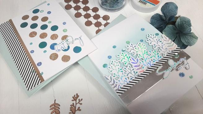 Spellbinders Foiled Basics Glimmer Plates by Yana Smakula - Tina Smith