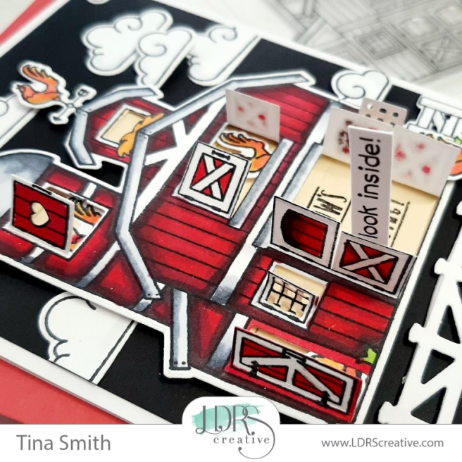 Card Tutorial by Tina Smith with the LDRS Creative Barnyard Stamp set #LDRSCreative #Papercrafts #Cardmaking #CardsandCoffeeTime