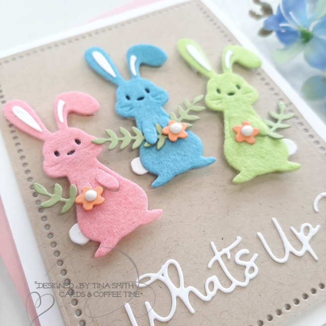Easter Spring Card tutorial by Tina Smith with the Spellbinders Small Die of the Month Club Kit for March 2020 #Spellbinders #SpellbindersClubKits #NeverStopMaking #CardsandCoffeeTime