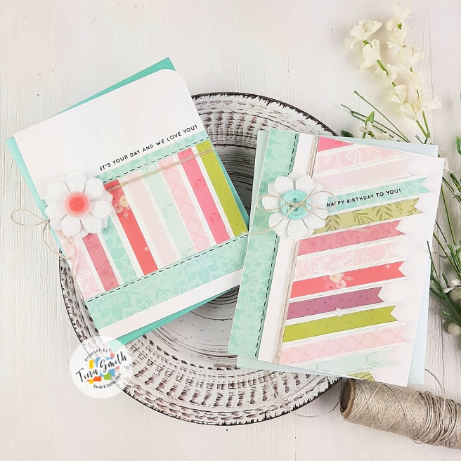 Card tutorial by Tina Smith using Carta Bella Flora No 3 Patterned Paper and Retro Sketches #130.  Card #6 of my DSP Paper Play Series.  #PatternedPaper #Cardmaking #DSPPaperPlay #CardsandCoffeeTime #HandmadeCards #CartaBella