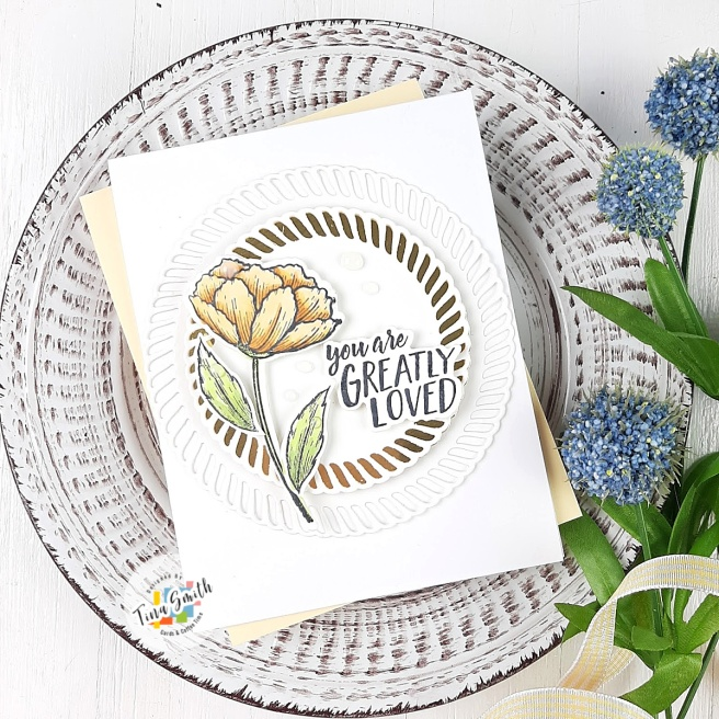 Card tutorial by Tina Smith with the Spellbinders Elegant Twist Collection by Becca Feeken #Spellbinders #NeverStopMaking #Cardmaking #CardsandCoffeeTime