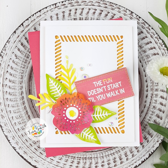 Card tutorial with the Spellbinders Card Kit of the Month for June 2020 - Life is a Party #Spellbinders #SpellbindersClubKits #Cardmaking #CardsandCoffeeTime